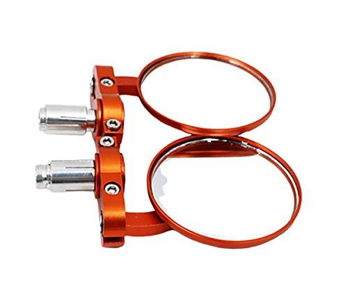 LQLQL Espejo retrovisor de Aluminio para Bicicleta Retrovisor Modificado Retro Retrovisor de Motocicleta Retrovisor Plegable
