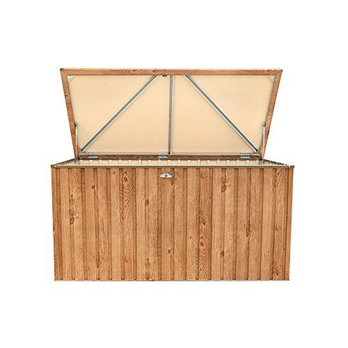 tepro Metall-Geräte Werkzeug Box 190x90 Holz-Dekor Eiche Garten Hof 7449