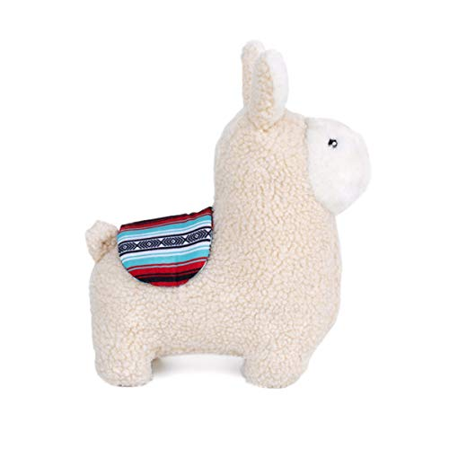 ZippyPaws - Storybook Snugglerz Squeaky Dog Toy with Stuffing - Liam The Llama