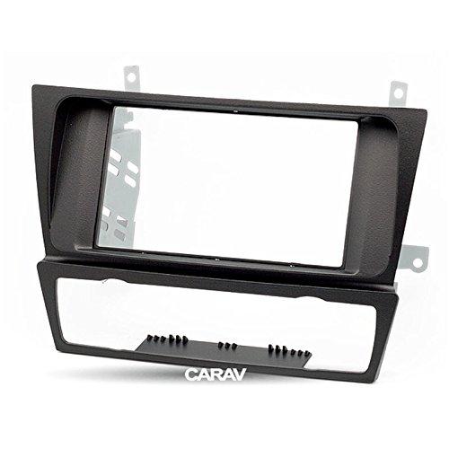 CARAV 11-125 Double Din car dash installation kit Radio Stereo Facia Fascia Panel Frame DVD Player Dash Install Panel for BMW 3-Series E90 E91 E92 E93 Auto Air-Conditioning with 17398mm 178100mm