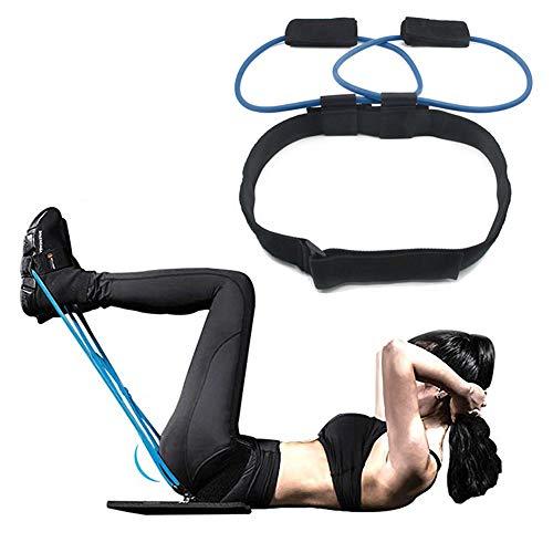 JZFUKSP Booty Resistance Belt Bands mit Taillengürtel - Bauch- und Po-Trainingsgeräte für Beine und Po, Knöchelresistenzgürtel, Vertical Jump Trainer