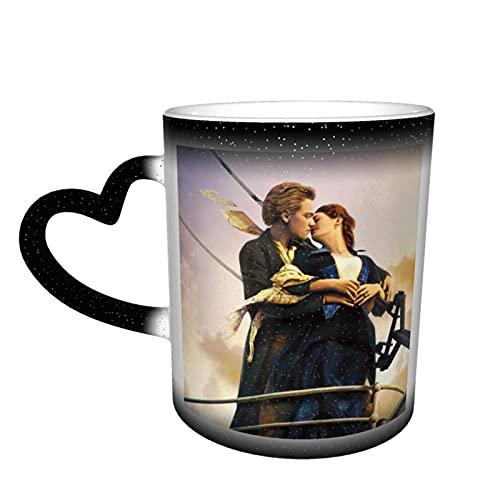 Titanic - Taza de café con diseño de película de cerámica, color cambiante, novedad para amantes de la familia, amigos, oficina, regalo de cumpleaños