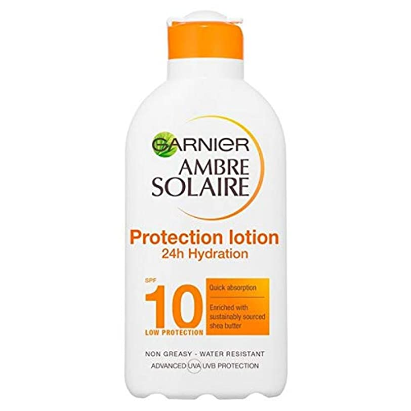 扱うベルベット新しさ[Garnier ] アンブレSolaire超水和日クリームSpf10の200ミリリットル - Ambre Solaire Ultra-hydrating Sun Cream SPF10 200ml [並行輸入品]
