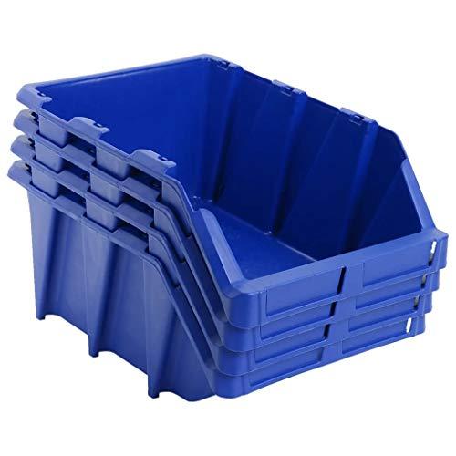 Ghuanton opbergdoos, stapelbaar, 35 stuks, 218 x 360 x 156 mm, blauw, accessoires voor ijzerwaren, organisatie en opslag van gereedschapskasten.