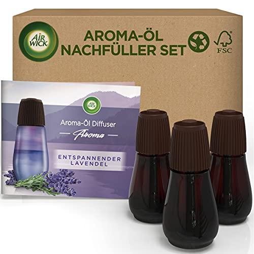 Air Wick Aroma-Öl Flakon - Duftöl Nachfüller Set für den Air Wick Diffuser - Duft: Entspannender Lavendel - 3 x 20 ml ätherisches Öl