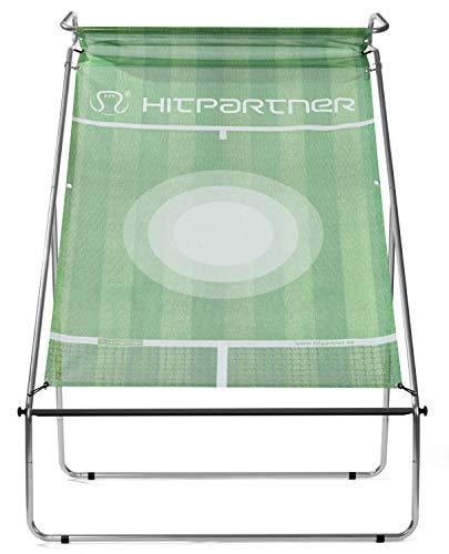 HitPartner - Mobile Tenniswand – Spanntuch grün – Rahmen Stahl, galvanisch verzinkt - Tennistrainingsgerät