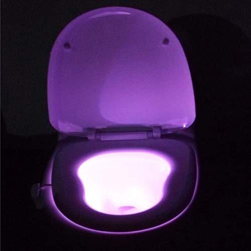 Uniguardian Toilettenlicht Nachtlicht Body Sensing Automatic LED Motion Sensor Night Lamp Toilet Bowl Badezimmerlicht Bathroom Light Badezimmerbeleuchtung