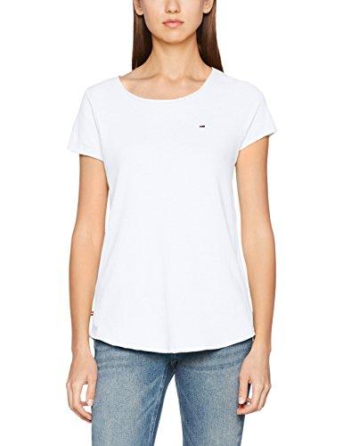 Hilfiger Denim DW0DW02202, Maglietta Donna, Bianco (Bright White), Medium