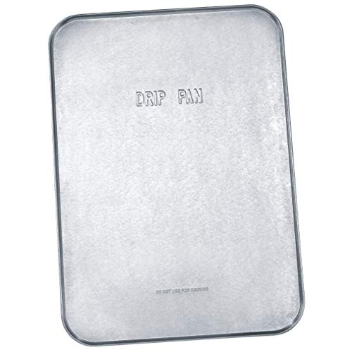 Lumax LX-1711 Silver 18' x 25' x 1/2' Galvanized Drip Pan