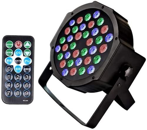U`King Scheinwerfer PAR Licht mit Fernbedienung 36 LED Bühnenbeleuchtung DMX512 RGBW Lichteffekt Partylicht mit Fernbedienung für Show Bar DJ KTV Disco Geburtstag Party Halloween