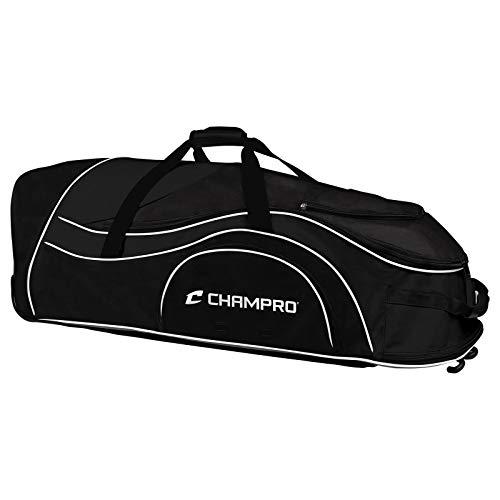 CHAMPRO Sports Catcher's Roller Bag, Black Catcher's Roller Bag, 36