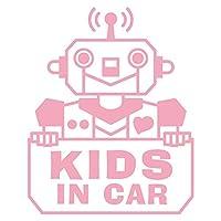imoninn KIDS in car ステッカー 【シンプル版】 No.50 ロボットさん (ピンク色)