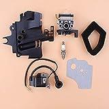 Kit de filtro de aire de bobina de encendido del colector de admisión del carburador para HONDA GX35 HHT35S UMK435 35CC desbrozadora de motor de motor pequeño
