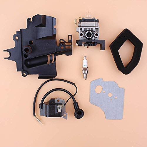 Fried Suave Colector de admisión del carburador Bobina de Encendido Juego de Filtro de Aire for Honda GX35 HHT35S UMK435 35CC Small Engine Motor de la Recortadora Desbrozadora Escabroso