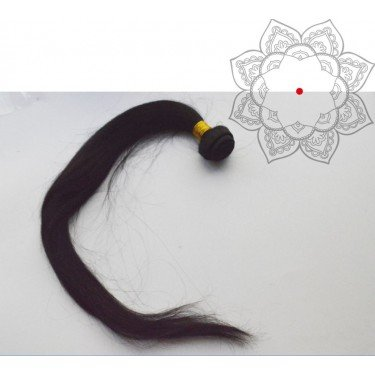 Tissage Indien Raide-Lisse 24 pouces - Cheveux humains 100% naturels - 1 paquet de 100g - Cheveux vierges indiens non traités 1B