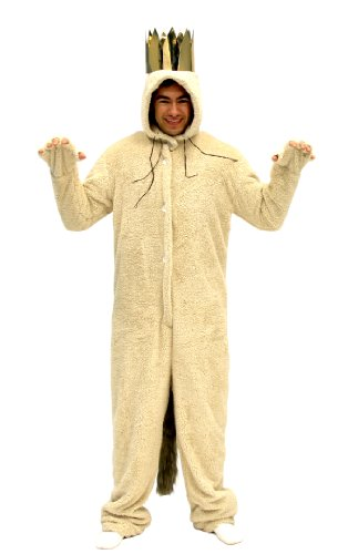 Where The Wild Things are Max Wolf Adult Costume (Adult Small) Tan