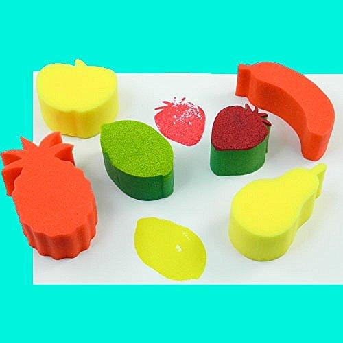 Fruit Spons Schilderij Set (Pack van 6)