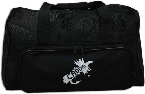 Caddis Deluxe Black Nylon Canvas Wader Bag with Mesh Dry Top, Changing Mat and Carry Straps