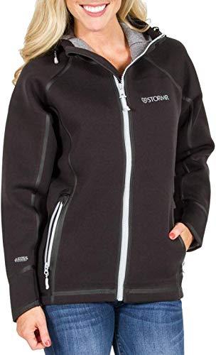 STORMR Damen Standard Covert Mantel, Schwarz, Größe L