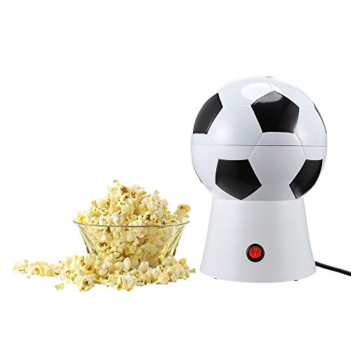 Best Buy! ANGELA Soccer Ball Hot Air Popcorn Maker with Removable Lid, Electric Popper Machine, Hot ...