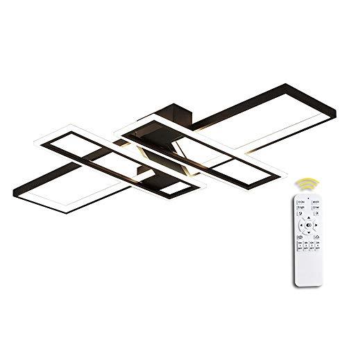 LED Deckenleuchte Wohnzimmerlampe Dimmbar Deckenlampe Hängeleuchte Modern Platz Chic Decke Leuchen Metall Acryl Deckenlampe mit Fernbedienung Innen Schlafzimmer Esszimmer Esstisch Deckenbeleuchtung