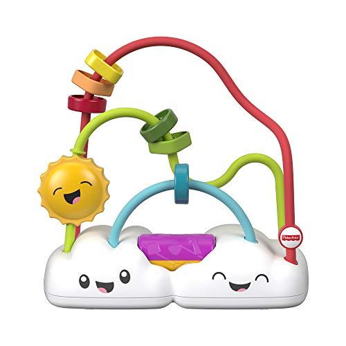 Fisher-Price Mon Boulier Arc-en-ciel, jouet pour inciter bébé à faire glisser, tourner et secouer les perles, dès 6 mois, FYL50