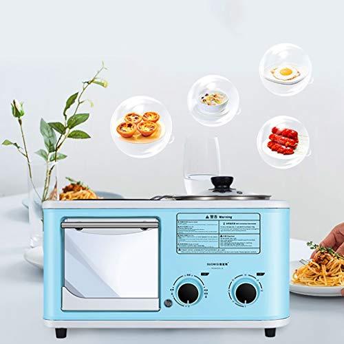 AI XIN Multifunctionele 3-in-1 elektrische ontbijtmachine, broodrooster, Griddle elektrisch broodgrillmet timer, compact design, uitneembare kruimellade