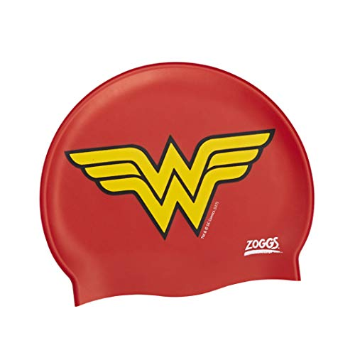 Zoggs Kids 'Wonder Woman cuffia da nuoto in silicone – rosso/giallo, taglia unica