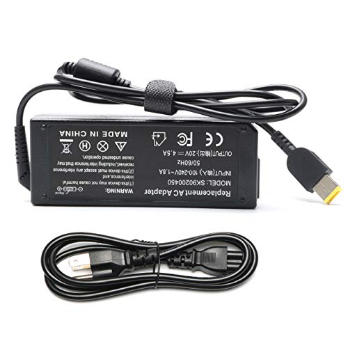 90W USB AC Adapter Charger for Lenovo ThinkPad T440 T550 T440S L540 E560 E540 L560 L540 E450 IdeaPad 300 500 Z410 Z510 Flex 2 Flex 3 Flex 14 Flex 15 20V 4.5A Power Supply