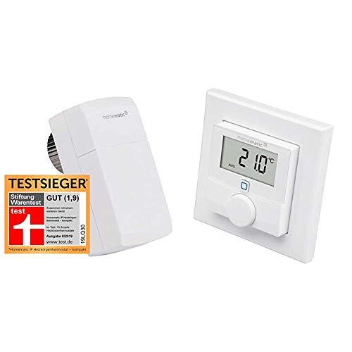 Homematic IP Smart Home Heizkörperthermostat – kompakt & Smart Home Wandthermostat mit Luftfeuchtigkeitssensor – intelligente Heizungssteuerung per App und Amazon Alexa