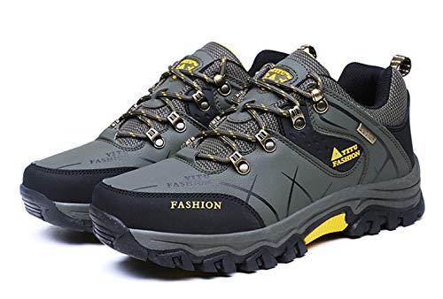 Zapatillas Trekking Hombre Impermeables Zapatos de SenderismoAl Aire Libre Antideslizantes de Montaña de Escalada Transpirable Trail Running Sneakers