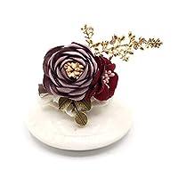 コサージュ 花 胸飾り 手作り花ブローチ 入学式 卒園式 卒業式 フォーマル レディース 女性 アクセサリー 母の日 プレゼント (カラー6)