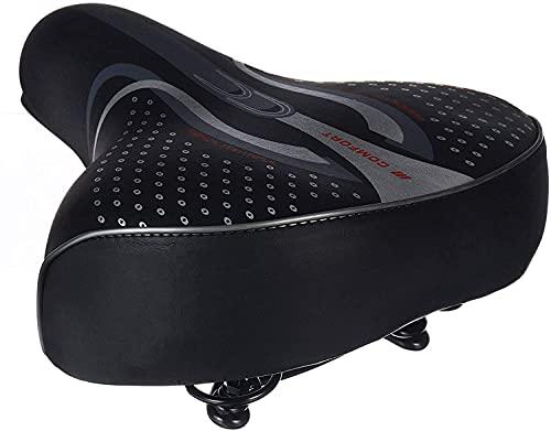 Tophacker Silla De Bicicleta Confort Amplia Big Big Bici Bicicle Gel Cruiser Extra Sporty Soft Soft Saddle Seat AFT para La Mostas De Bicicletas