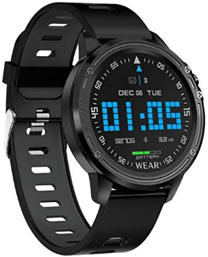 SYWJ sports watch,Smart watches, men's fashion waterproof IP68 with clock, heart rate sports bracelet, watch intelligent Bluetooth connectivity call alert