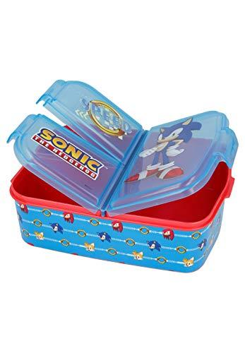 Sonic The Hedgehog Lunchdoos Brooddoos Kinderlunchbox met 3 afzonderlijk afsluitbare compartimenten