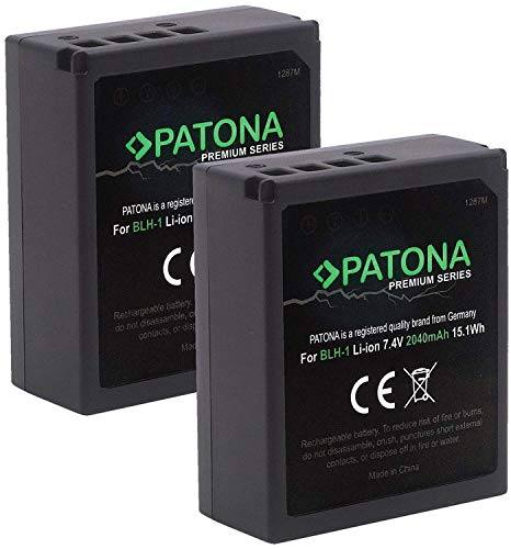 (Volldekodiert) PATONA Premium (2X) Ersatz für Akku Olympus BLH-1 (echte 2040mAh) zu Olympus OM-D E-M1 Mark II III und OM-D E-M1X