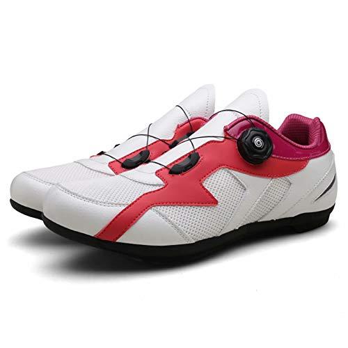 Zapatillas de Ciclismo Antideslizantes - Zapatillas de Bicicleta de Carretera y montaña de Fibra de Carbono Transpirables, Zapatillas de Ciclismo Deportivas Profesionales al Aire Libre sin Bloqueo