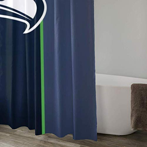 LAYENJOY Green Bay P-a-c-k-ers (52) Football Waterproof Curtain Bathroom Partition Shower Curtain Hooks Suitable for Shower Room Bedroom Bathtub(60x72 in)