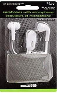 Handsfree Earphones with microphone (White)