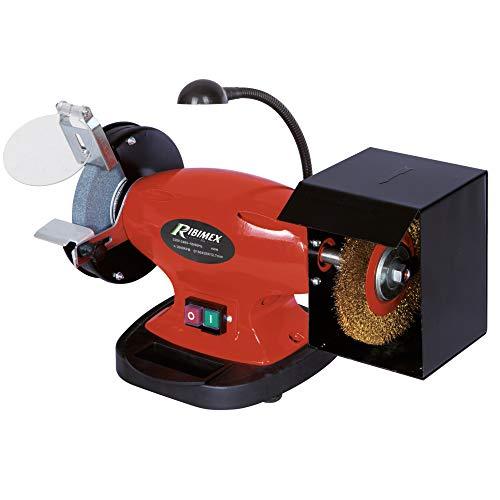Ribimex PRTMEBRO150 Smerigliatrice da banco combinata con Spazzola 150 mm, 450 W, 230 V