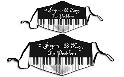 1PCS Piano 10 Fingers 88 Keys No Problem Printed Face Mask for Men Women Adults Music Lover
