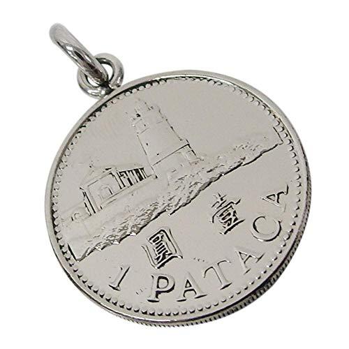 本物のマカオのコインペンダント(1) メンズ レディース ネックレス 硬貨 アジア 中国