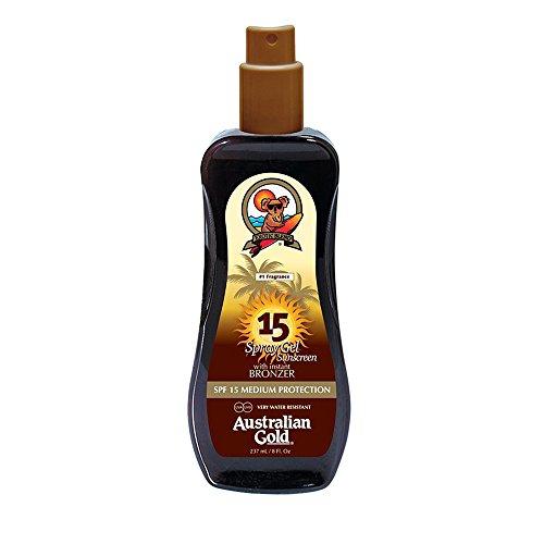 Australian Gold SPF 15spray gel with Instant Bronzers 237ml
