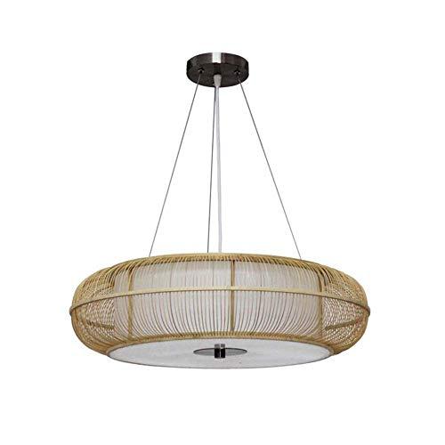 Panda hanglamp van bamboe in Chinese stijl, eenvoudig bed en breakfast hal, Dell'Hotel hanglamp van bamboe, rond woonkamer