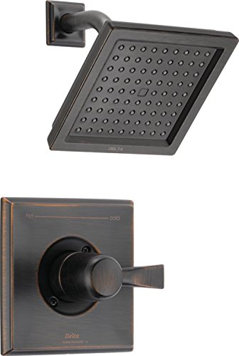 Delta Faucet Dryden 14 Series Single-Function Shower Trim Kit with Single-Spray Touch-Clean Shower Head, Venetian Bronze T14251-RB (Valve Not Included)