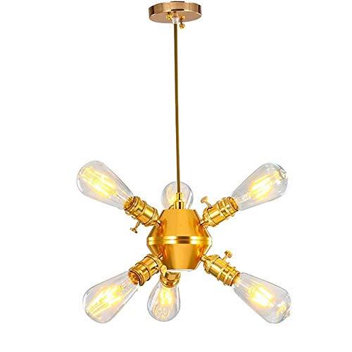 Plafondlamp Sputnik Kroonluchter, Industriële Plafond Lamp Creatieve Retro Koper Lampen Met Spotlights Voor Slaapkamer Keuken Eetkamer