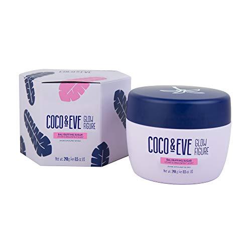 Coco and Eve Glow Figure Bali Buffing Sugar Scrub - Body Scrub Peeling mit Mandelöl | Körperpeeling Damen (240g)