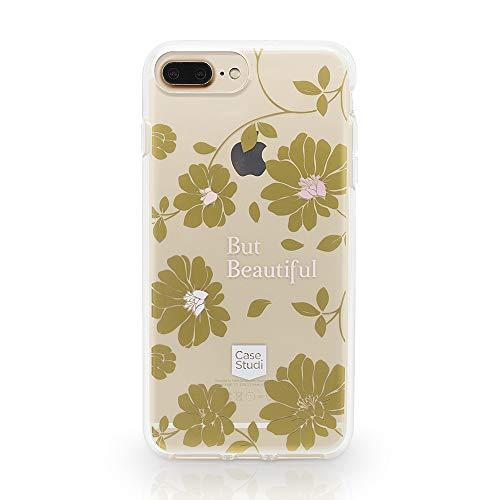 Case Studi CS08-IP876S6P-01 Capa para iPhone 7/ Plus iPhone 8 Plus/ iPhone 6/6s Plus Feminina Personalizada Florida Flores, Rosa