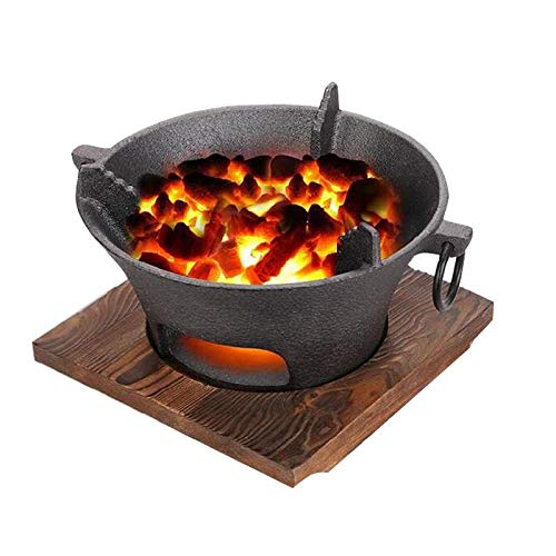 SCDXJ Parrilla De Barbacoa De Carbón Portátil ,Estufa De Barbacoa Redonda para Cocinar Al Aire Libre Senderismo Picnics,A-M