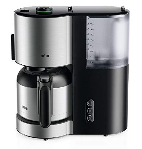Braun Kaffeemaschine KF 5105 BK – IDCollection Filterkaffeemaschine, mit AromaSelect & 10 Tassen Thermoskanne, perfekter Genuss, 1000 Watt, Schwarz/Edelstahl